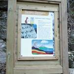 Un pannello lungo il Sentiero Geologico