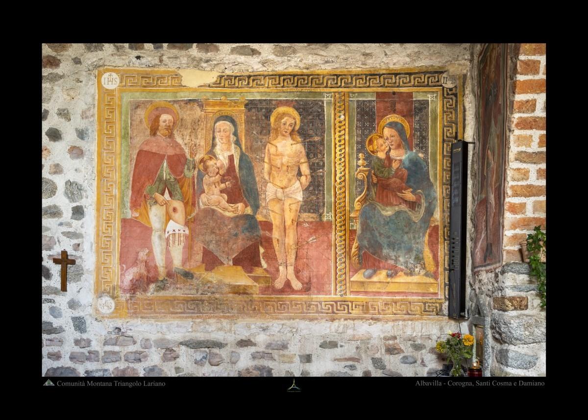 Albavilla - Corogna, Santi Cosma e Damiano - Affresco