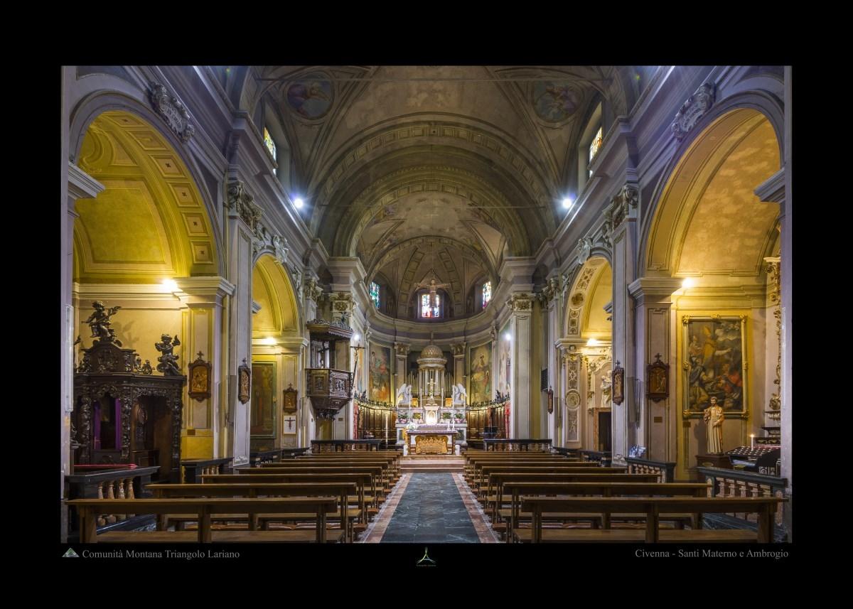 Civenna - Santi Materno e Ambrogio - Interno