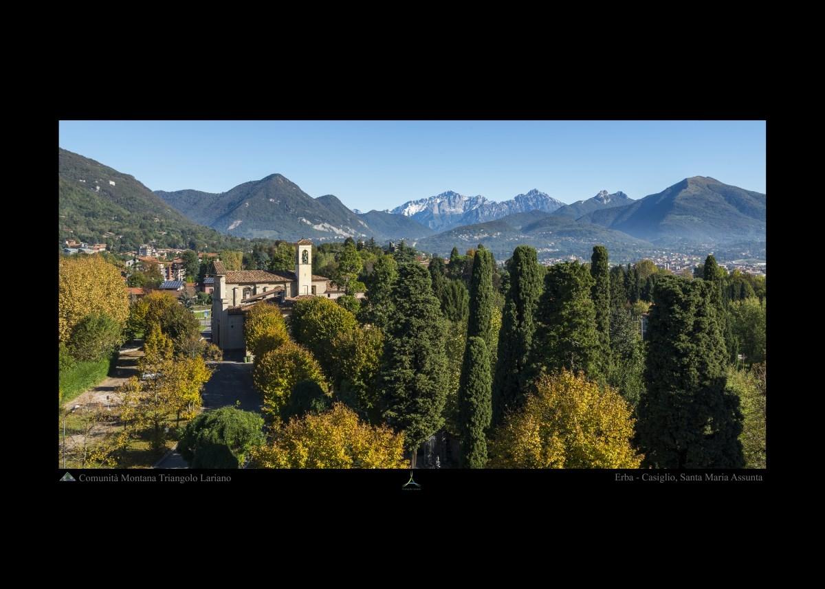 Erba - Casiglio, Santa Maria Assunta - Paesaggio