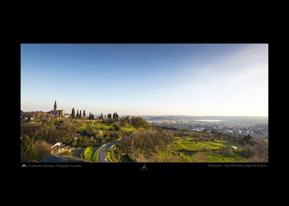Proserpio - San Donnino e il lago di Alserio - Panorama