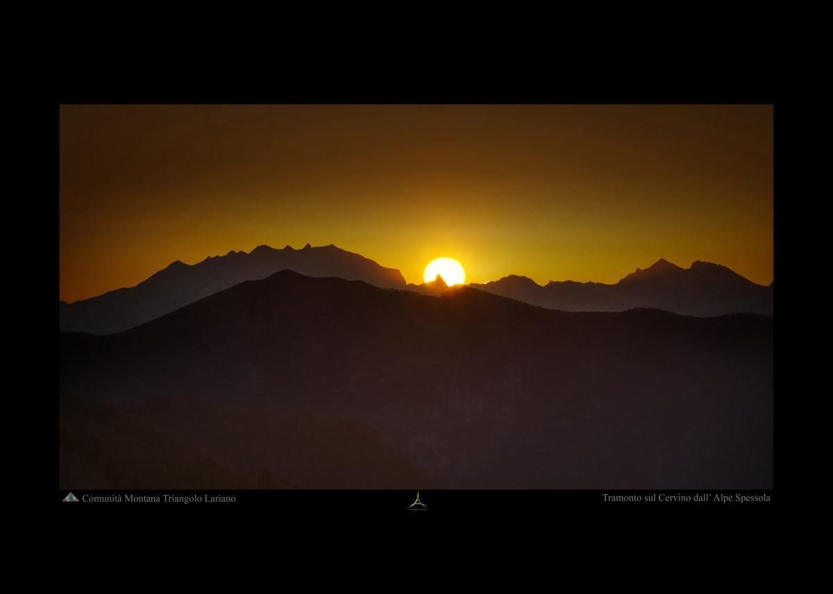 Tramonto sul Cervino dall'Alpe Spessola